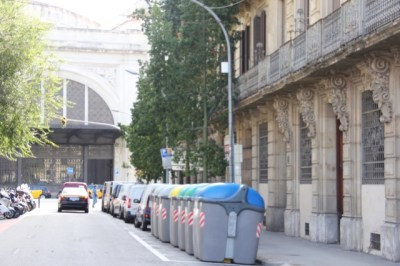 Smart rubbish bins in Barcelona