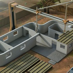 Building a house with 3D printing