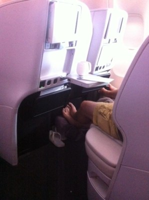 Air New Zealand Premium economy cabin