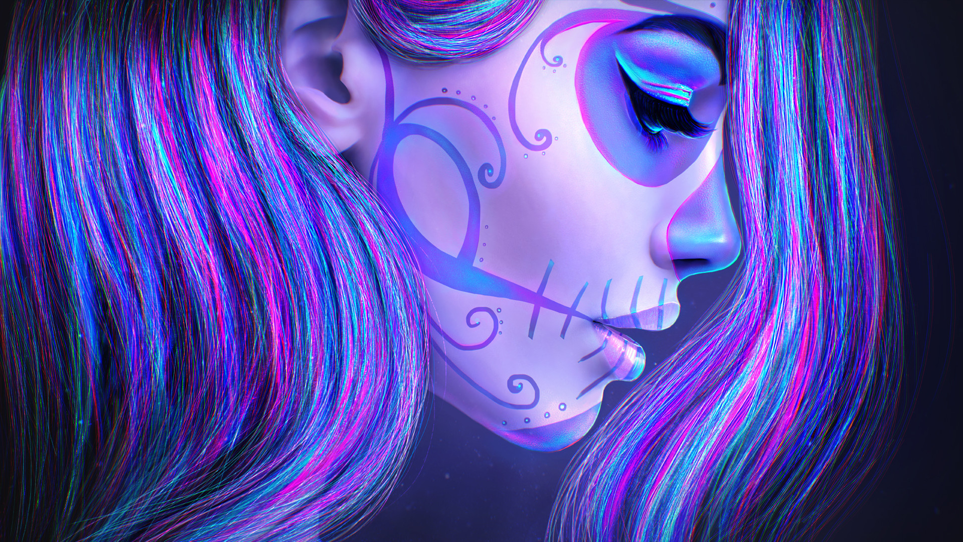Fullsize Of Sugar Skull Wallpaper