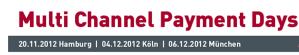Rabatt von 100 Euro: Multi Channel Payment Days: Programm für Hamburg, Köln und München