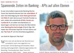 Gastbeitrag im IT-Finanzmagazin: Spannende Zeiten im Banking – APIs auf allen Ebenen