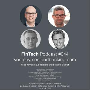 FinTech Podcast #044 – Robo Advisors 2.0 mit Liqid und Scalable Capital