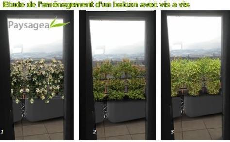 Etude de l'aménagement d'un balcon avec vis a vis