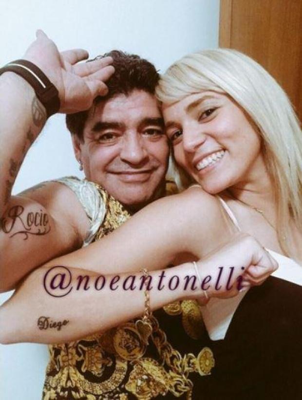 B5 I1uVCIAAokIO Diego Maradona gets bitch tattooed on his chest for girlfriend Rocio Oliva [Pictures]