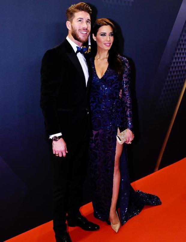 B7MqcpRCcAAZXVr Sergio Ramos girlfriend Pilar Rubio was a big hit at the Ballon dOr [Vine & Pictures]