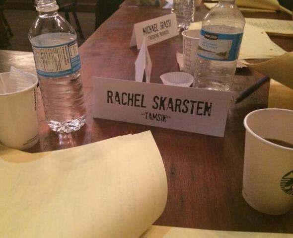 Rachel Skarsten at Table Read