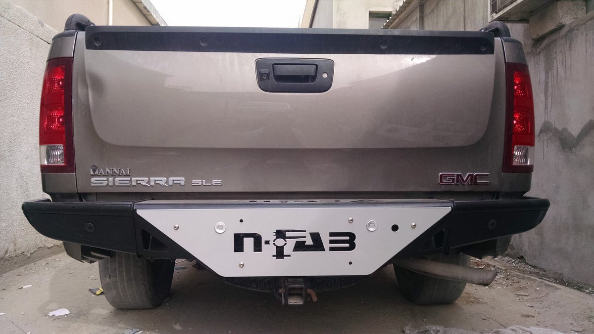 4x4 Auto Accessories on Twitter   Rear Nfab design bumper for GMC     4x4 Auto Accessories on Twitter   Rear Nfab design bumper for GMC Sierra   nfab  bumper  gmc  sierra  dubai