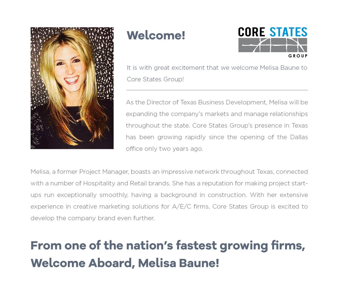 Charming Core S Group On Welcome Melisa Baune To Core S Core S Group On Core S Group Engineering Core S Group St Louis houzz 01 Core States Group