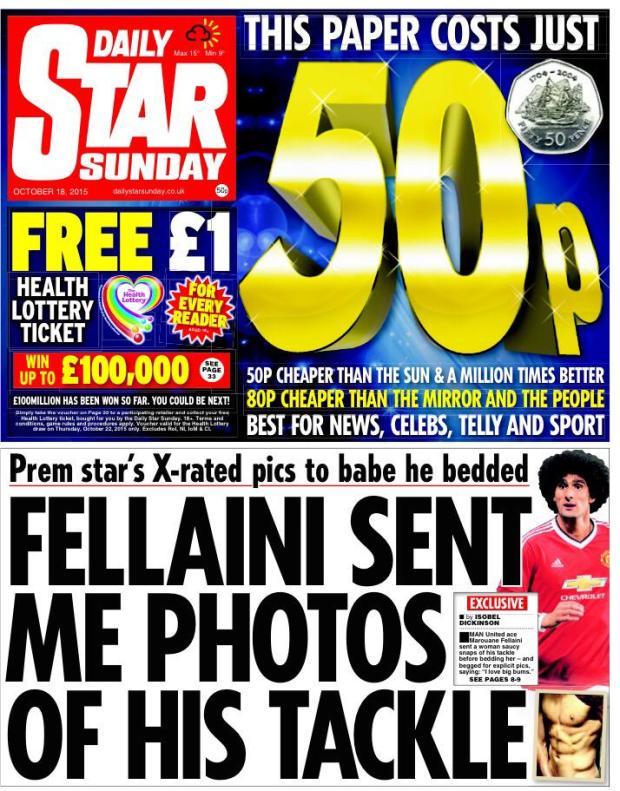 Man Uniteds Marouane Fellaini accused of sending pics of his privates [Star]