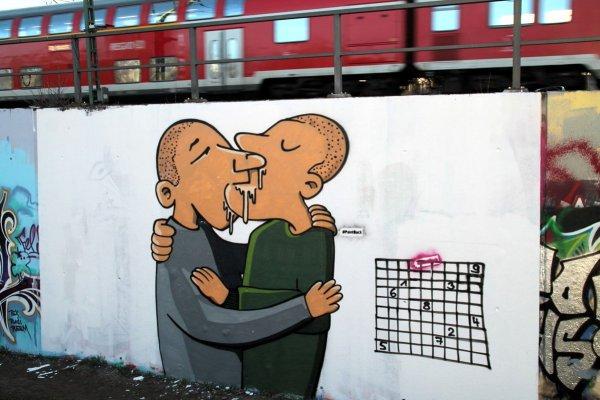 Increíble forma de convertir el fascismo en arte gracias al graffiti