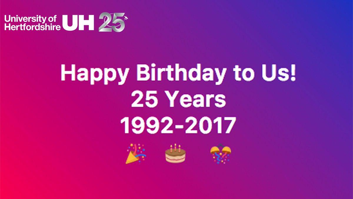 Impeccable University Hertfordshire On Birthday To On Hatfield Polytechnic Became University Hertfordshire On Birthday To On Happy Birthday To Us Twin Happy Birthday To Us University gifts Happy Birthday To Us