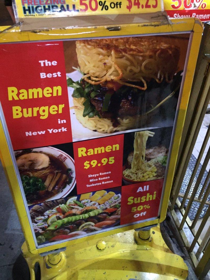 Large Of Red Ramen Burger