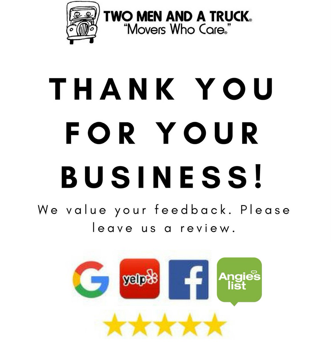 Prissy See Why We Have A Referral Two Men A Truck On Appreciate Your If You We Appreciate Your Business Synonym We Appreciate Your Business Message A Truck On Appreciate Your If Used Our Call Us Two M inspiration We Appreciate Your Business