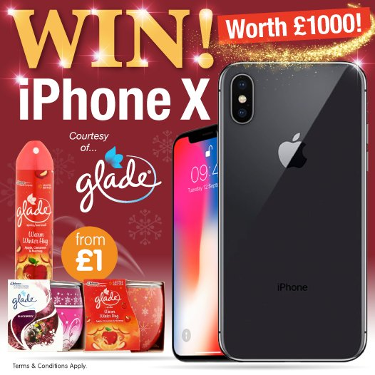 "test ツイッターメディア - 📱#COMPETITION TIME📱  LIKE and COMMENT ""#Glade"" for the UNBELIEVABLE chance to #WIN an iPHONE X thanks to the amazing people over at @Glade!  Competition ends 14.12.17! https://t.co/l8aDUZNNWu"