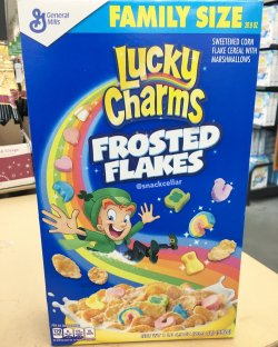 Fetching Snack Cellar On S Frosted Flakes Are Out Now It Looks Like Lucky Leprechaun Stole Recipe From Hisrival Tony Snack Cellar On S Frosted Flakes Are Out Now At