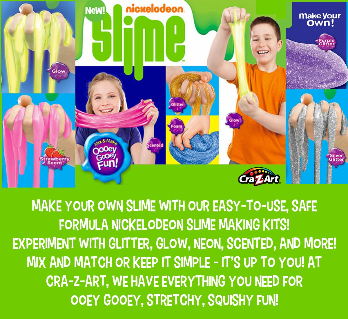 Exciting Left On Slime Making Kits Are Now Nickelodeon Slime Recipe Baking Soda Nickelodeon Slime Recipe Crazy Art And By Clickingon Button nice food Nickelodeon Slime Recipe