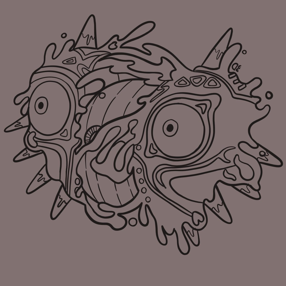 Deepeearts  on Twitter   Sketch   line   colour  art  illustration     Deepeearts  on Twitter   Sketch   line   colour  art  illustration   TheLegendofZelda  majorasmask  nintendo  artistsontwitter