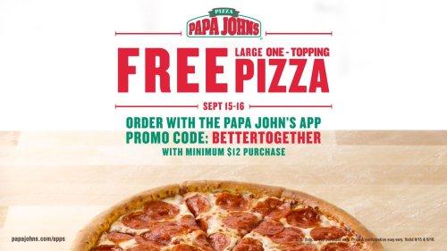 Medium Of Papa Johns 50 Cent Pizza