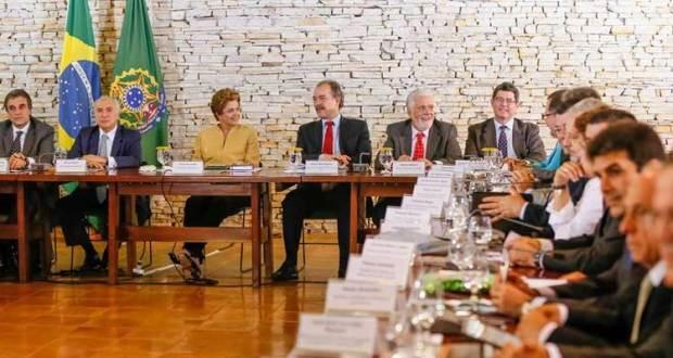 A presidente fez a primeira reunião ministerial com sua nova equipe de governo na tarde desta terça-feira, na Granja do Torto.