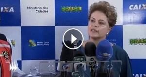 """Dilma pede manifestações pacíficas: """"Sou de uma época em que não era possível se manifestar"""""""