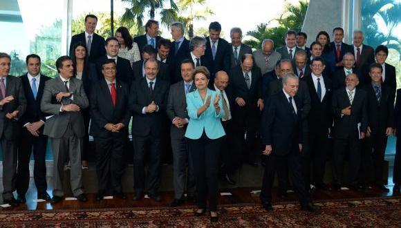 Dilma Rousseff e sua equipe reúnem-se com os governadores no Palácio da Alvorada Wilson Dias/Agência Brasil