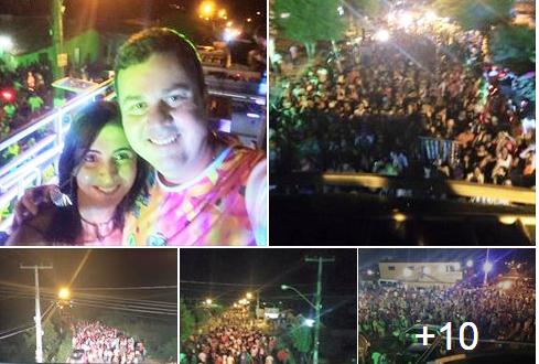Carnaval de Capim foi animado pela Banda Pegada Sacana e Trio Boladão