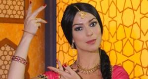 Maria Paula no Casseta & Planeta em 2009, quando fazia paródia de Caminho das Índias