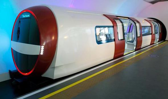 New design for the tube train in London - Underground
