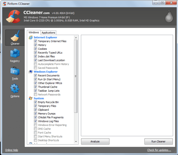 CClean Guide to Speed Up Internet Explorer