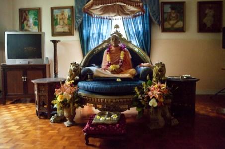 His Divine Grace A.C. Bhaktivedanta Swami Prabhupada Honolulu, Hawaii, 2009 Inkjet Print © Ron Espina