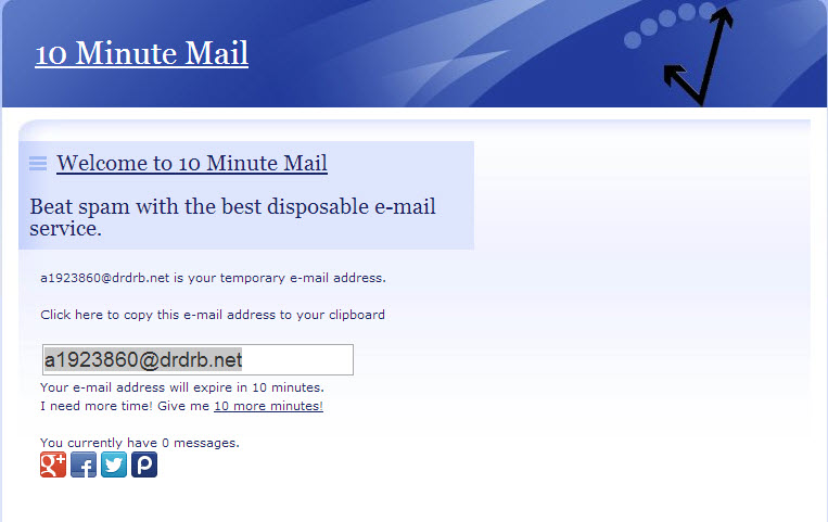 Free randomly generated email address from 10 minute email