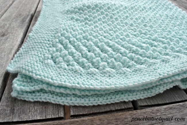 Knit Popcorn Stitch Baby Blanket : Easy Knitting Patterns -- Popcorn Baby Blanket Peace but Not Quiet