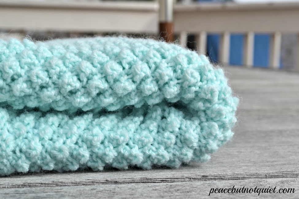 Easy Knitting Blanket Patterns : Easy Knitting Patterns -- Popcorn Baby Blanket Peace but Not Quiet