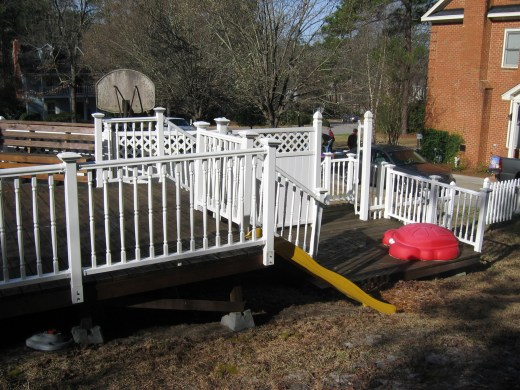 the deck my husband built at our old house