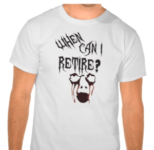 When Can I Retire? Zombie t-shirt for Halloween
