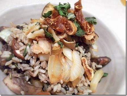 Mushroom Onion and Fig Brown Rice Pilaf (37)