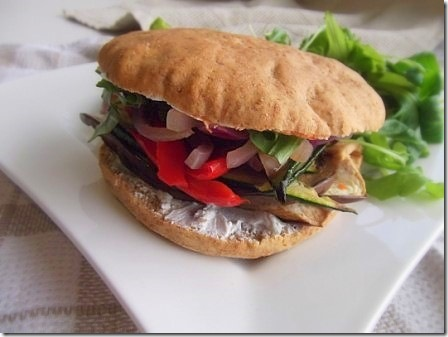 roasted vegetable and goats cheese spelt sub (1)