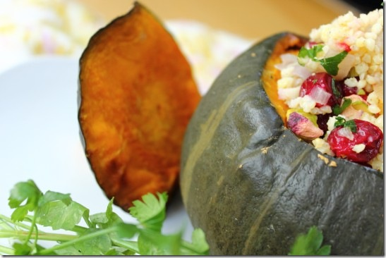 Cranberry, Pistachio and Apricot Stuffed Pumpkin