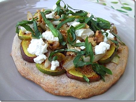 Fig Basil and Goats Cheese Pizza (2)