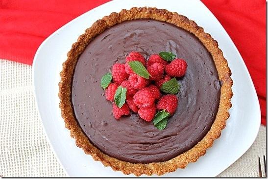 Vegan Chocolate Pecan Crust Pie (11)