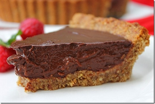 Vegan Chocolate Pecan Crust Pie (2)