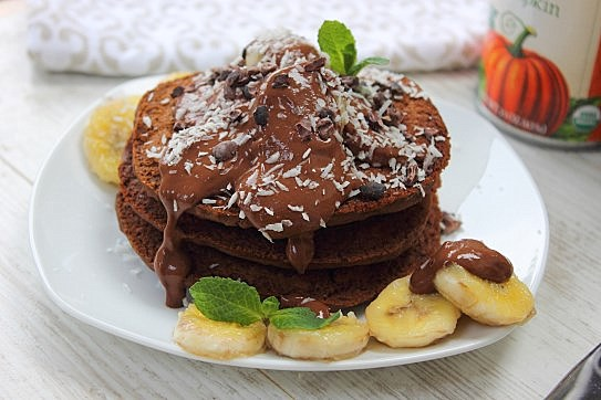 Chocolate Pumpkin Pancakes (18)