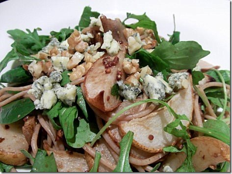 Pear, Walnut, Blue Cheese and Rocket Spaghetti