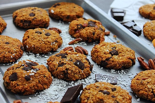 Chocolate chunk sweet potato cookies