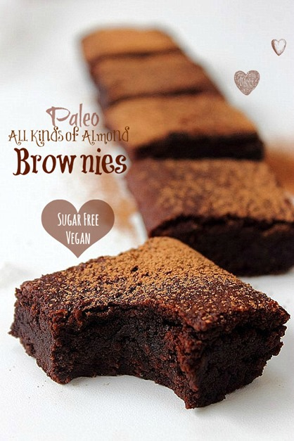 All kinds of almond brownies paleo