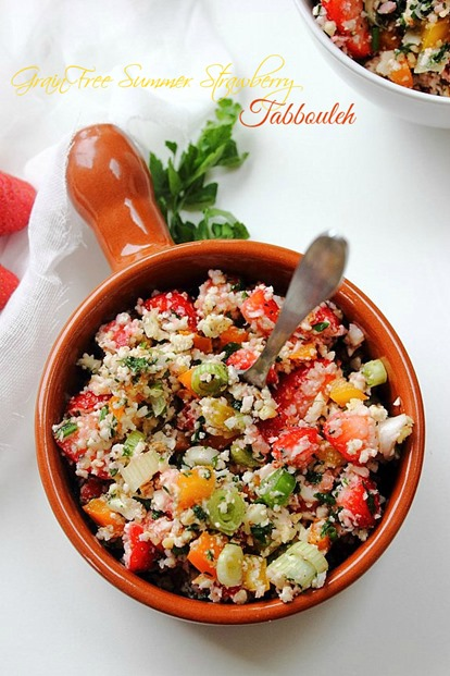 Summer Strawberry Grain Free Tabbouleh Title