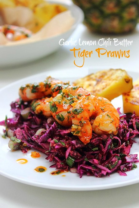Garlic Chili Butter Prawns Title