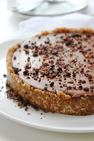 Deeply rich indulgent chocolate truffle tart encased in a coconut ...