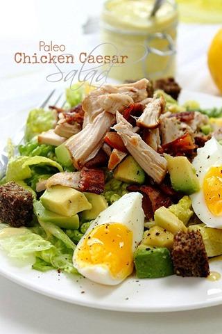 Paleo Chicken Caesar Salad on a Stick